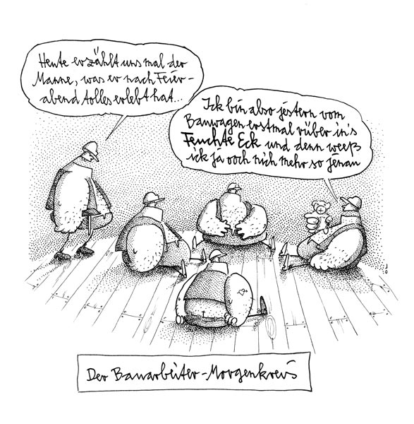 Bauarbeiter bei der arbeit comic  Musenblätter - Das unabhängige Kulturmagazin